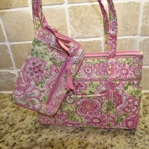 RETIRED Petal Pink Tote & Large Wallet Combo VB